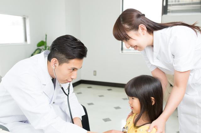 小児科受診の様子,水疱瘡,子供,