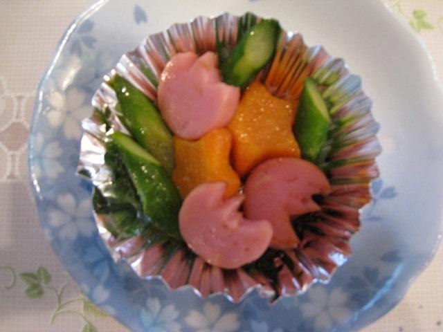 お弁当やおかずにアスパラと魚肉ソーセージ,お弁当,アスパラ,