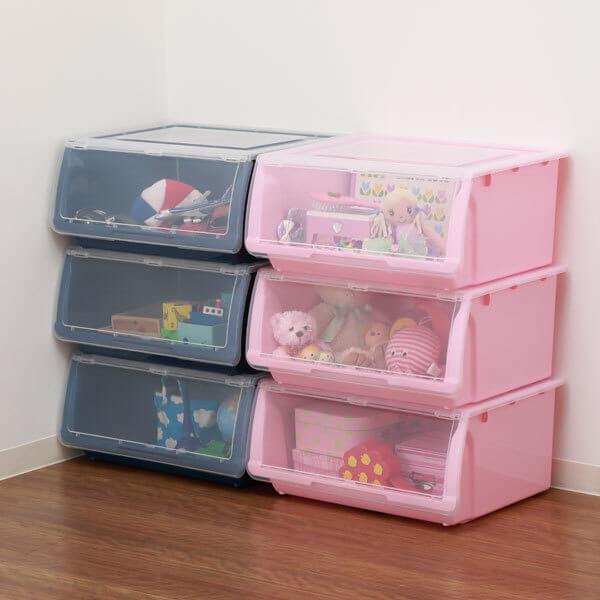 ニトリ洋服やおもちゃをすっきりしまえる収納ケースフラッテK,おもちゃ,収納,ニトリ