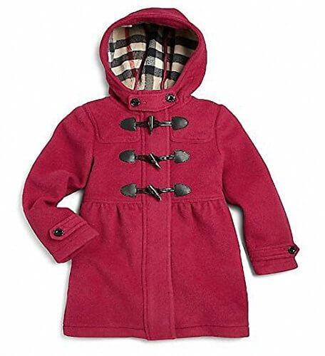 (バーバリー) BURBERRY Girl's Wool Duffle Coat 女の子のウール ダッフル コート 0473606990578 (並行輸入品) {zzeems} (7, Pink),キッズ,ダッフルコート,