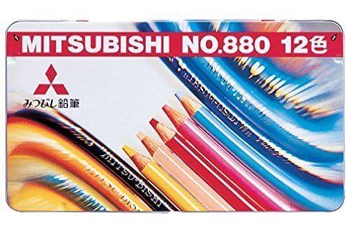 三菱鉛筆 色鉛筆 880級 12色 K88012CP,色えんぴつ,