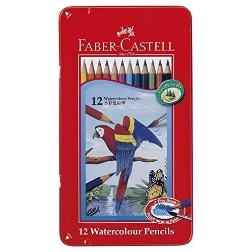 ファーバーカステル 水彩色鉛筆 平缶 12色セットTFC-WCP/12C,色えんぴつ,