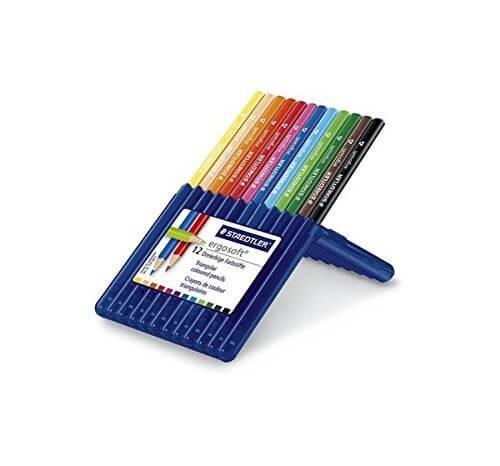 ステッドラー 色鉛筆 エルゴソフト 157SB12 三角軸 12色,色えんぴつ,