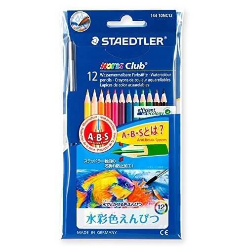 ステッドラー 水彩色鉛筆 ノリスクラブ 144 10NC12P 12色,色えんぴつ,