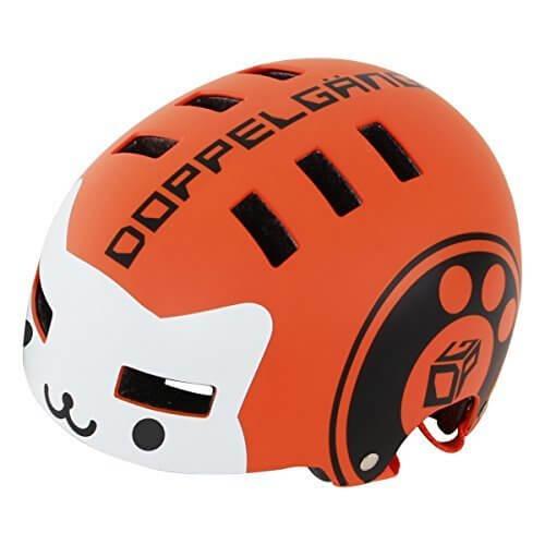 DOPPELGANGER キッズヘルメット [頭周囲:51~55cm 対象年齢目安:3歳8歳]ベンチレーション配置 CE適合/製品安全基準合格品 手洗い可能インナーパッド BMXベースモデル DHL270-OR,子ども,ヘルメット,