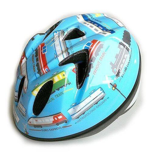 TETE 子ども用ヘルメット Splash Heart TB トレイン水色 S,子ども,ヘルメット,