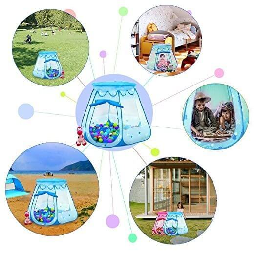 BATTOPブルー子供テント ,ボールプール,家庭用,