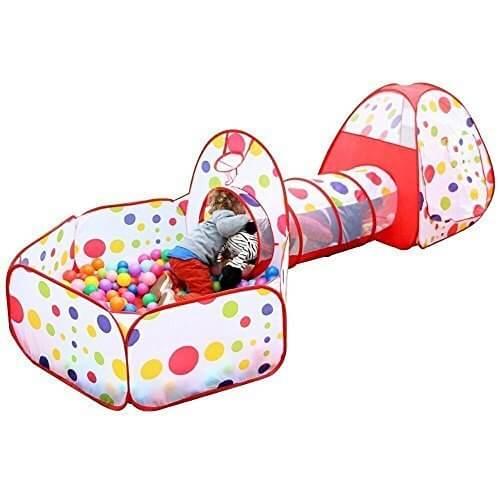 (イークスン) EocuSun 子供用テント セット  ボールプール ボールピット 折り畳み式 トンネル バスケットネット 収納バッグ付き 3in1,ボールプール,家庭用,