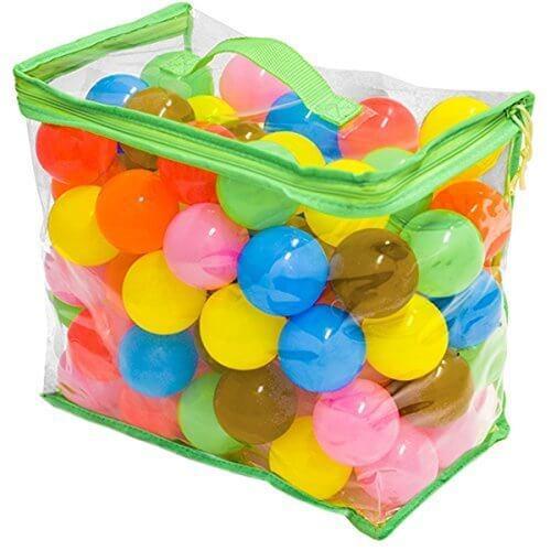 FIELDOOR カラーボール 7色 100個入り 直径5.5cm 【やわらかポリエチレン製】 (プール/ボールプール/ボールハウス用),ボールプール,家庭用,