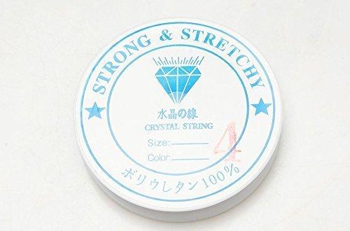 シリコンゴム ブレスレット用 ゴム紐 0.4mm/0.6mm/0.8mm/1mmサイズ 通しワイヤー & 解説書付き♪ (0.4mm),手作り,ブレスレット,
