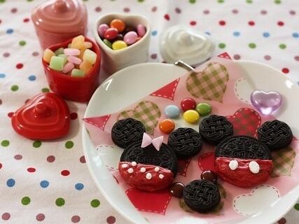 オレオと黒ココアでミッキー&ミニーちゃん,バレンタイン,レシピ,簡単