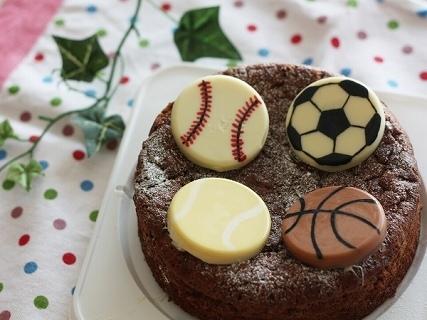 4種スポーツボールのキャラチョコ,バレンタイン,レシピ,簡単