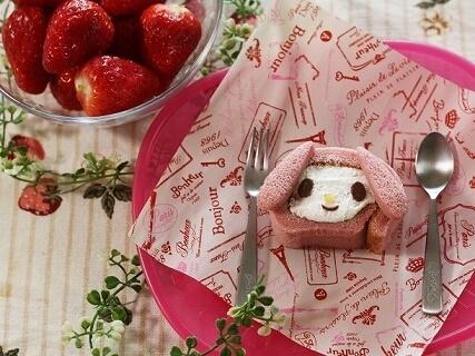 もち食感ロールアレンジのマイメロディスイーツ,バレンタイン,レシピ,簡単