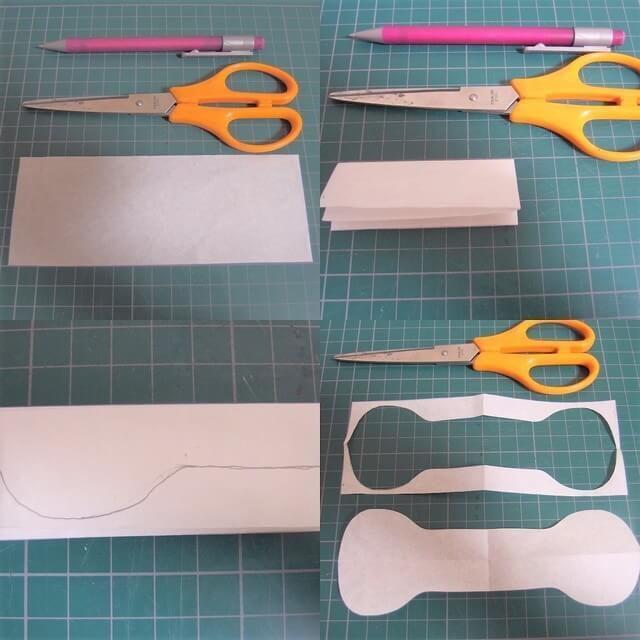 型紙,リボンゴム,作り方,