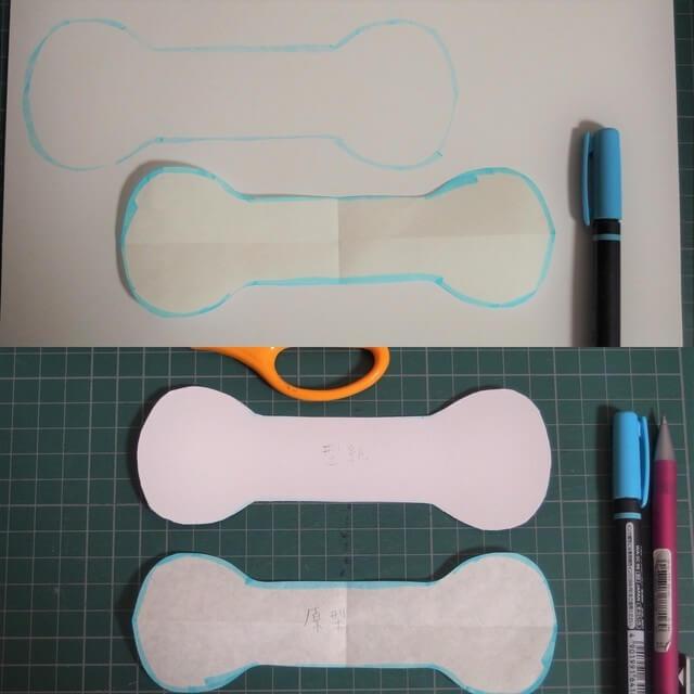 厚紙に写し取ることで何回も使えます!,リボンゴム,作り方,