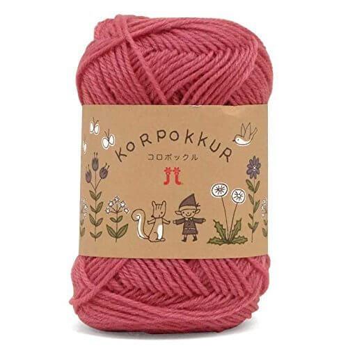 ハマナカ コロポックル 編みやすさを考えた中細よりやや太めの仕立て!色数も豊富です♪ 【カラー1~10】【毛糸】【ハマナカ】【15秋冬】 19 ダークピンク系色,リボンゴム,作り方,