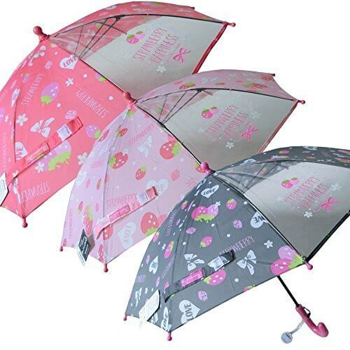 クラックス 子供傘 40cm (手開き) (ストロベリーハピネス ピンク) 015-001,子ども,傘,