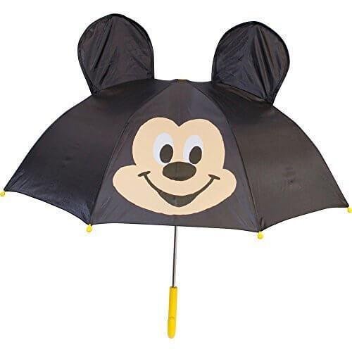 キャラクター 傘 ミッキーマウス ポップ 耳付き 47cm 19278,子ども,傘,