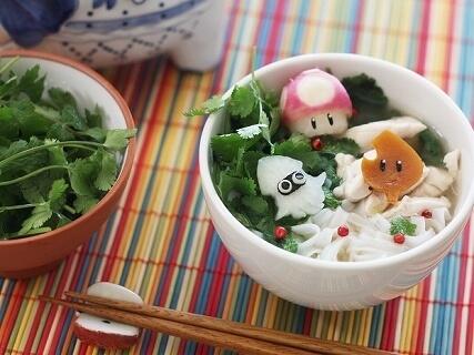 マリオキャラのトッピング,麺,レシピ,