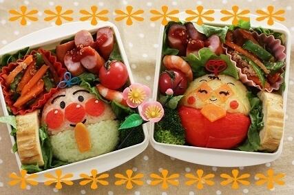 アンパンマンカップルのひな祭り弁当,ひな祭り,弁当,