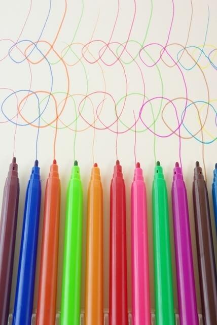 水性のカラーペン,自由研究,簡単,小学生