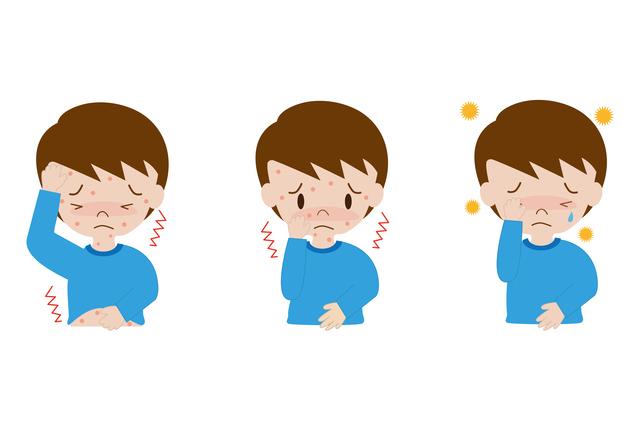 水疱瘡の症状イメージ,子供,水疱瘡,