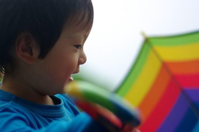 傘と男の子,かまたえん,観覧車,東急プラザ蒲田