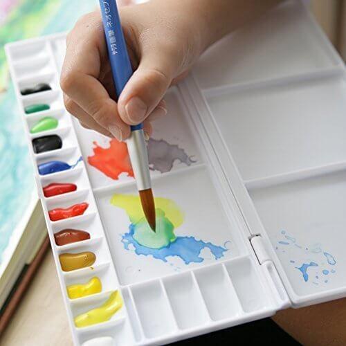 サクラクレパス 絵の具 マット水彩 ポリチューブ 12色 MW12PR,色遊び,保育,ゲーム