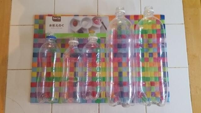 ペットボトルと絵の具,色遊び,保育,ゲーム