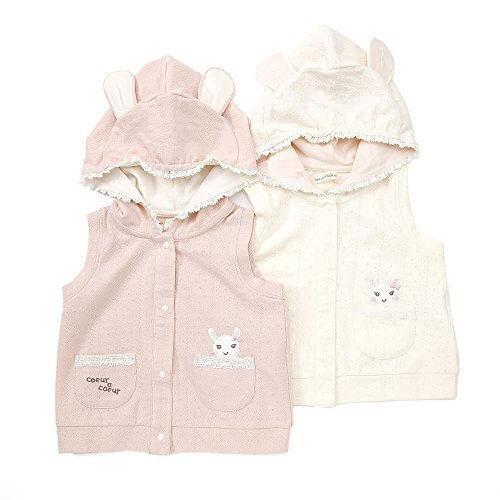 coeur a coeur (クーラクール) うさみみベスト (70~100cm) キムラタンの子供服 ピンク 100 (44011-161a),ベビー,ベスト,