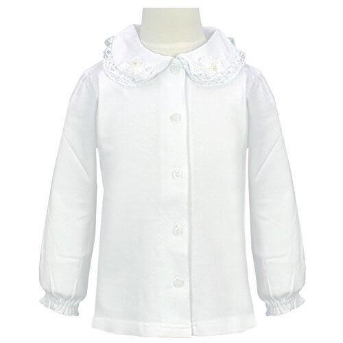 アスナロ(トップス 長袖tシャツ) キッズ 女の子 ニットブラウス フォーマル フリル 無地 リボン100 白,キッズ,ニット,