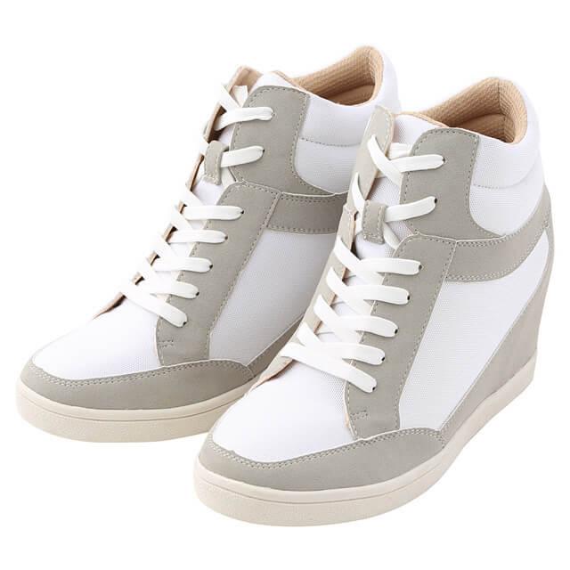 インヒールスニーカー,無印,靴,