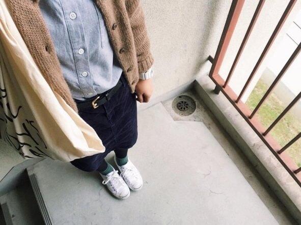 スカートと合わせたコーデ,無印,靴,