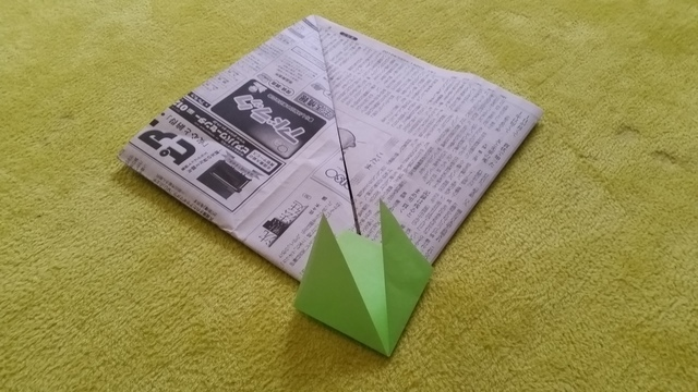 左右の折り方 オリジナル,兜,作り方,新聞紙