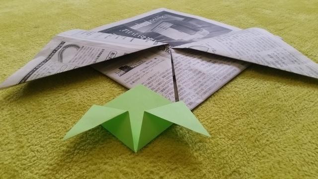 斜めの折り方 オリジナル,兜,作り方,新聞紙