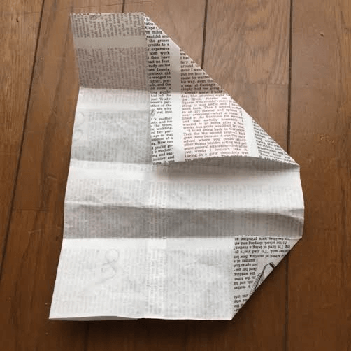 作り方(三角形の折り方) オリジナル,兜,作り方,新聞紙