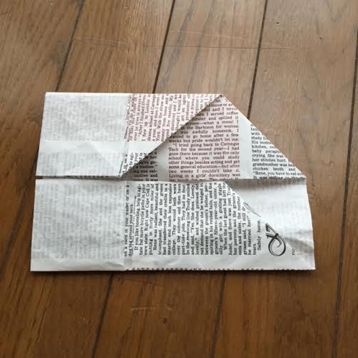 作り方(上下の折り方) オリジナル,兜,作り方,新聞紙