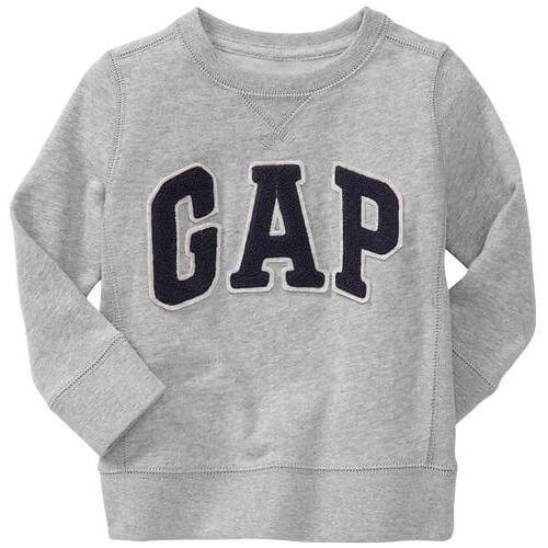 GAP(ギャップ)baby GAP baby GAP kids ロゴ トレーナー 長袖 (ピンク色・紺色・灰色・赤色)【月齢:2歳・3歳・4歳】(並行輸入品) (4YRS(4歳), 灰色),親子,コーデ,ブランド
