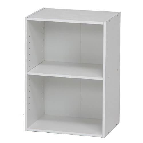 不二貿易 リビング収納 カラーボックス 可動棚2段 ホワイト 96613,おもちゃ,収納,カラーボックス