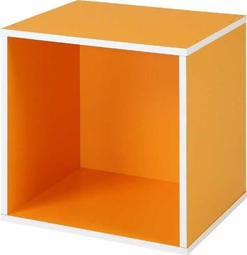不二貿易 リビング収納 キューブボックス (組換え自由収納) オレンジ CB35OP(OR) 92102,おもちゃ,収納,カラーボックス