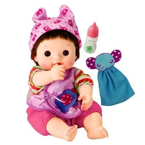 ぽぽちゃん お人形 やわらかお肌のちいぽぽちゃん ごくごくミルク&ぞうさんタオルつき,人形,可愛い,おすすめ
