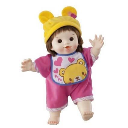ぽぽちゃん お道具 やわらかお肌のたんぽぽのぽぽちゃんデビューセット 人気の子育てお道具3点つき,人形,可愛い,おすすめ