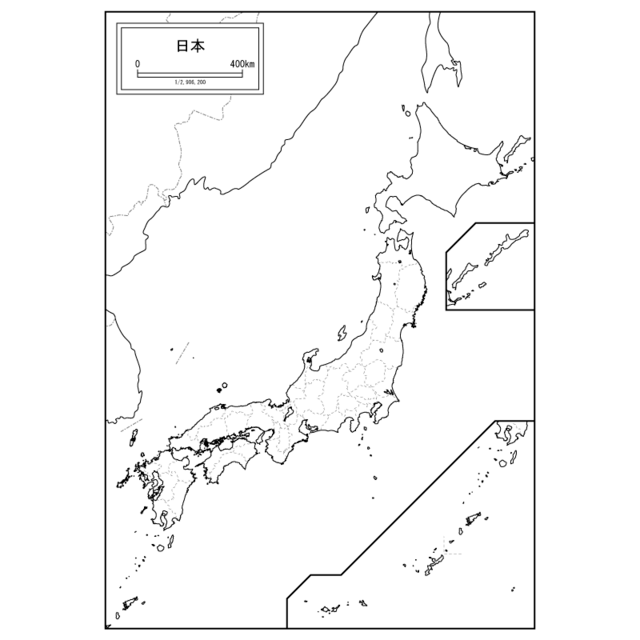 白地図専門店 日本地図,日本,地図,ポスター