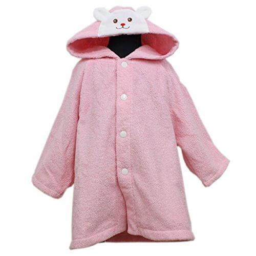 ミキハウスファースト(mikihouse) くまちゃんスマイル ベビーバスローブ 出産祝い ギフト ギフト対応可 ピンク(08),出産祝い,バスローブ,