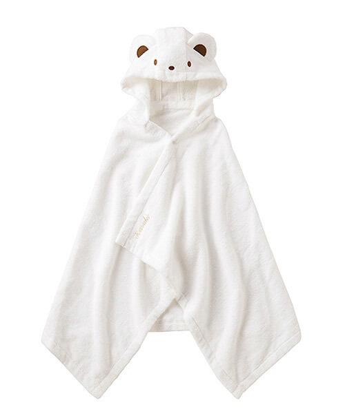 ネーム入りファミちゃんポンチョ型バスタオル,出産祝い,バスローブ,
