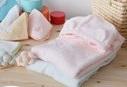 ふわっふわバスローブと便利な小物がわぁ!と広がる日本製の 出産祝い (女の子用・男の子用)★『湯上がりパーカーのふわサラスマイリー5点セット』,出産祝い,バスローブ,