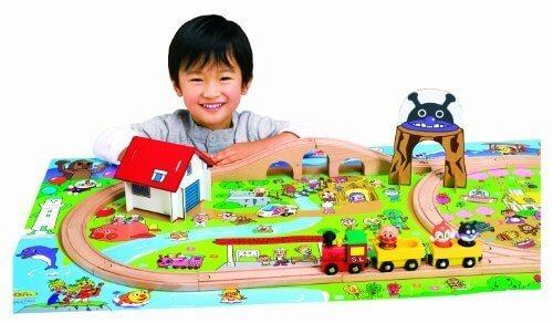 アンパンマン 木製レールセット,汽車,おもちゃ,