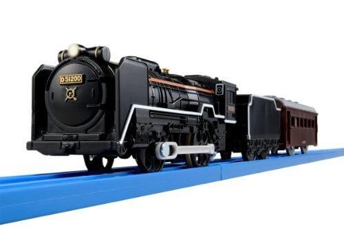 プラレール S-28 ライト付D51 200号機蒸気機関車,汽車,おもちゃ,
