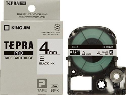 キングジム テープカートリッジ テプラPRO 4mm SS4K,テプラ,