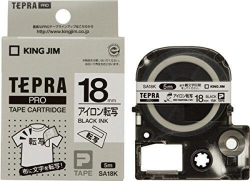 キングジム テープカートリッジ テプラPRO アイロン転写テープ 18mm SA18K,テプラ,